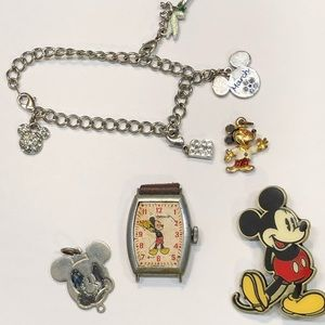 Jewelry - 5 PC Vintage Mickey Mouse Disney Lot ,Offers WLCM